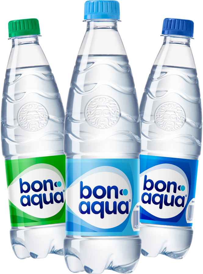 BonAqua (в ассортименте: негазированная, среднегазированная)